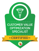 Transparent Customer Value Optimization Specialist logo.