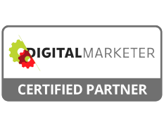Digital Marketer Certified Partner logo.