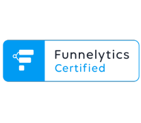 Transparent Funnelytics Certified logo.