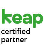 Transparent Keap Certified Partner logo.
