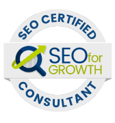 SEO for Growth- SEO Certified Consultant logo.